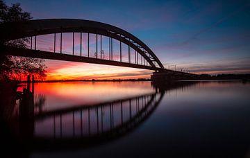 Spoorbrug in Culemborg van Wim Brauns