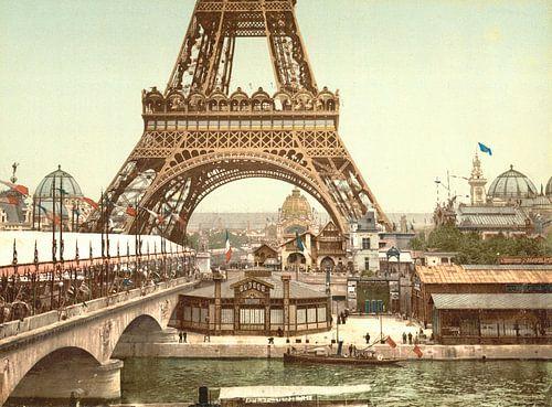 Eiffel Tower and general view of the grounds, Exposition Universelle, Paris van Vintage Afbeeldingen