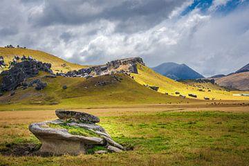 Rotsen bij Castle Hill, Nieuw Zeeland van Rietje Bulthuis