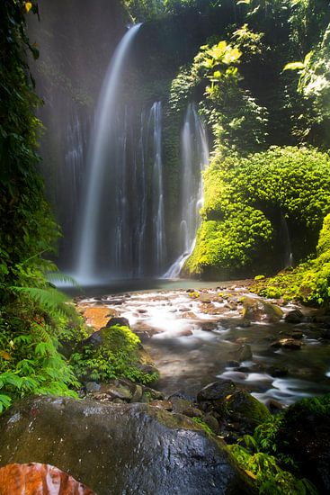 Waterval op Lombok van Willem Vernes