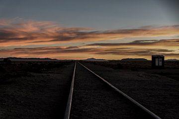 Oude treinrails van Marlou van Hal