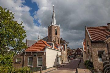 Kirche an der Dorfstraße in Moordrecht, Niederlande von Joost Adriaanse