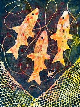 Orangenfarbenen fisch von Lida Bruinen