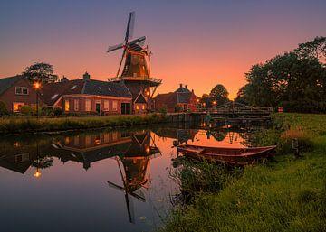 Sonnenuntergang in Onderdendam von Henk Meijer Photography