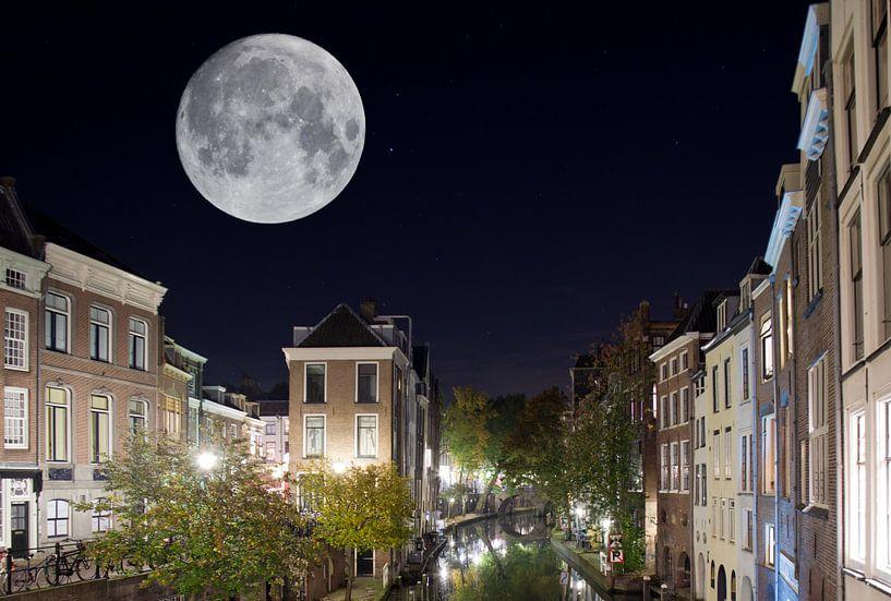 Utrecht Supermaan van Sybren Visser