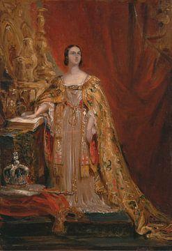 La reine Victoria prête le serment de couronnement, le 28 juin 1838, George Hayter sur