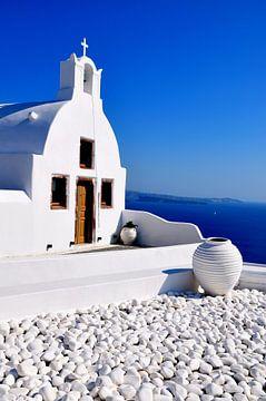 Blau Santorini/ Oia/Griechenland von Sabrina Varao Carreiro