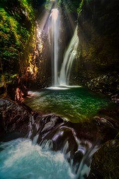 Adembenemende Gitgit watervallen in Bali van Ardi Mulder