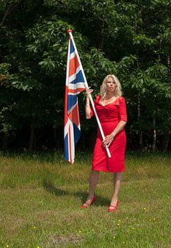 Pin-up girl flying the flag van Arthur Wijnen