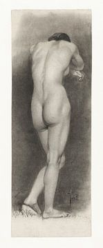 Staand vrouwelijk naakt, van achteren gezien, Johan Braakensiek van Atelier Liesjes