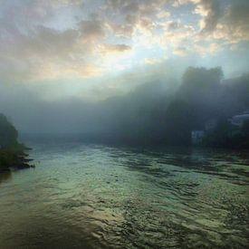 Matin au bord de la rivière I sur Ilona Picha-Höberth