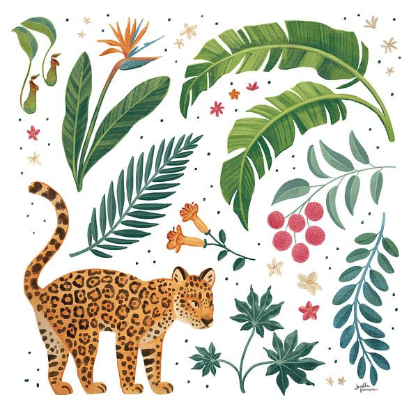 Jungle Love IV White, Janelle Penner van Wild Apple