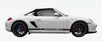 Porsche Boxster Spyder Typ 987 in carraraweiß von aRi F. Huber
