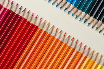 Collectie van bont gekleurde potloden van Tonko Oosterink