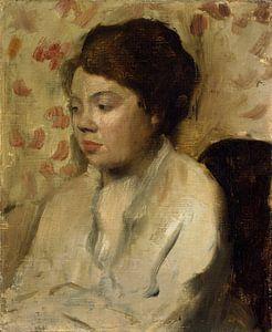 Portret van een Jonge Vrouw, Edgar Degas