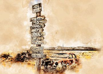 Route 66 van Peter Roder