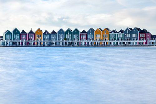 Gekleurde huizen in Houten von Thomas van Galen