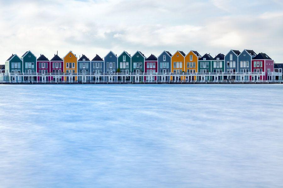 Gekleurde huizen in Houten van Thomas van Galen