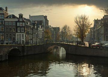 Reguliersgracht hoek Keizersgracht in Amsterdam van Don Fonzarelli