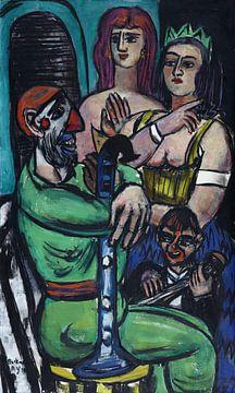 Clown mit Frauen und jungem Clown - Max Beckmann, 1950