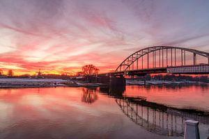 Deventer ijssel zonsondergang Bolwerksmolen