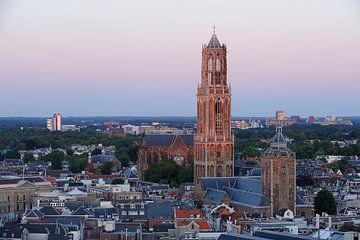 Stadsgezicht van Utrecht met de Domtoren  sur Merijn van der Vliet