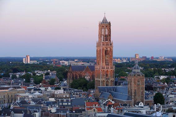 Stadsgezicht van Utrecht met de Domtoren  van Merijn van der Vliet