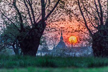 Sonnenaufgang über Schoonhoven von Rossum-Fotografie
