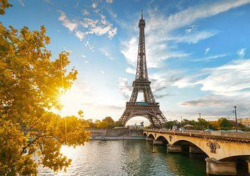 Sonnenuntergang am Eiffelturm in Paris von Christian Müringer
