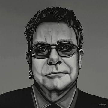 Elton John Malerei von Paul Meijering