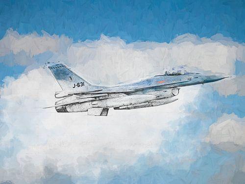 F16 skizziert und lackiert