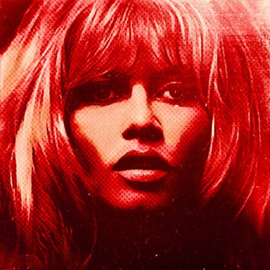 Brigitte Bardot Neon Red Colourful Pop Art PUR van Felix von Altersheim