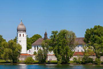 Klosterkirche auf der Fraueninsel, Chiemsee, Bayern van Jan Schuler