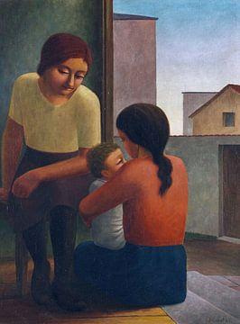 Twee vrouwen met kind, Georg Schrimpf, 1928 van Atelier Liesjes