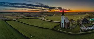 Den Hoorn Texel vlak voor zonsopkomst van