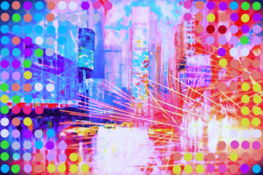 Time Square Point Pop Art PUR van Felix von Altersheim