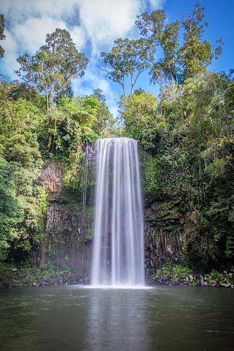 De bekende Millaa Millaa waterval in Northern Queensland