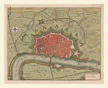Plattegrond Antwerpen kleur, anno ca 1660, met wit kader van Gert Hilbink
