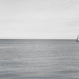 Varende Zeilboot van Melvin Fotografie