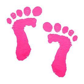 Roze babyvoetjes afdruk van Natalie Bruns