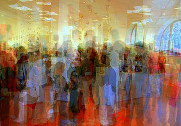Lors de l'exposition van Martine Affre Eisenlohr