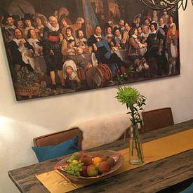 Photo de nos clients: Schuttersmaaltijd ter viering van de Vrede van Munster, Bartholomeus van der Helst sur Meesterlijcke Meesters, sur medium_13