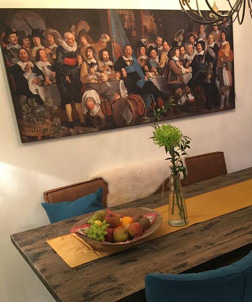 Klantfoto: Schuttersmaaltijd ter viering van de Vrede van Munster, Bartholomeus van der Helst van Meesterlijcke Meesters