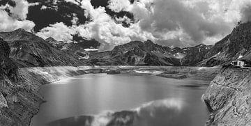 Bergpanorama Lünersee van Peter Moerman