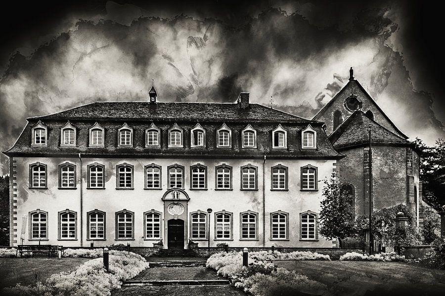 Klooster in Sankt Thomas (Eifel, Duitsland) van Art by Jeronimo