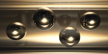 Pipeline with Spheres van Jörg Hausmann