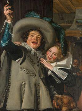 Junger Mann und Frau in einem Gasthaus, Frans Hals - 1623