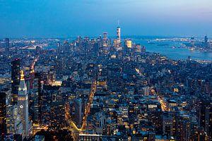 Stadtzentrum bei Nacht
