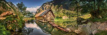 See mit Bootshaus in Berchtesgaden. Panorama. von Fine Art Fotografie