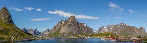 Panoramafoto van Reine, Lofoten, Noorwegen van